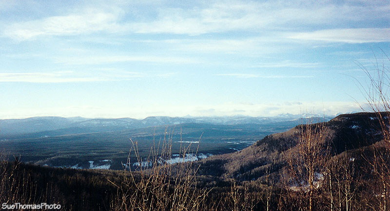 View from Steamboat Mountain, Alaska Highway, British Columbia