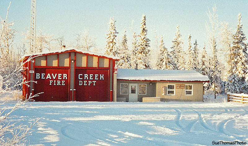 Fire station at Beaver Creek, Yukon
