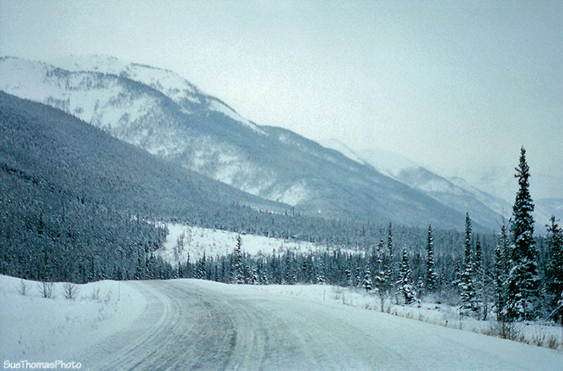 Southbound on the Alaska Highway in British Columbia