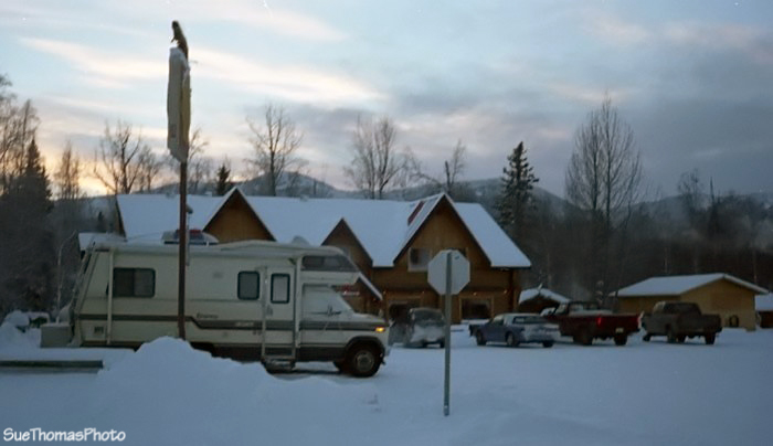 Camping at Liard lodge