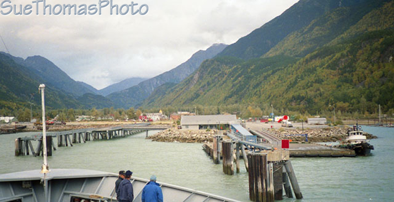 Arriving at Skagway on the ferry