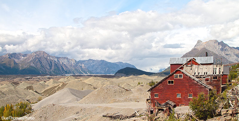 Tailings at Kennecott Mines in Alaska