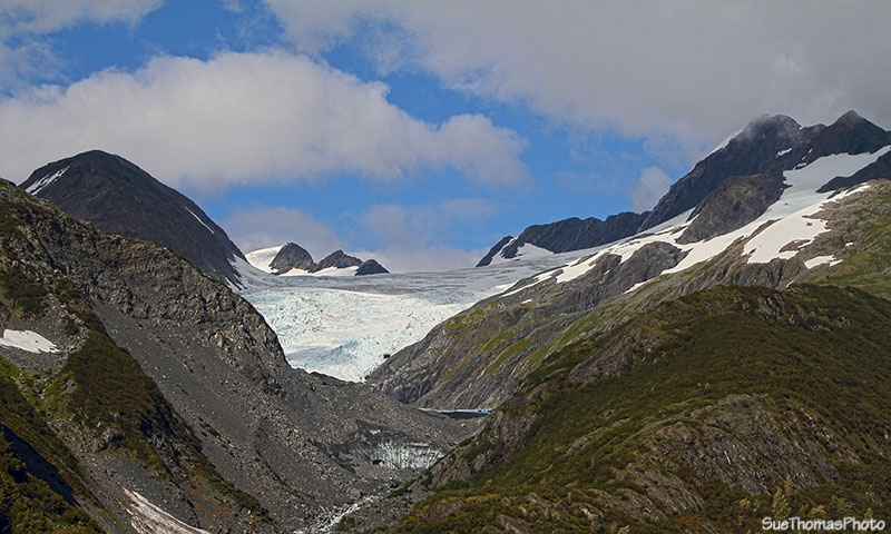 Glacier viewed from near tunnel entrance at Whittier, Alaska
