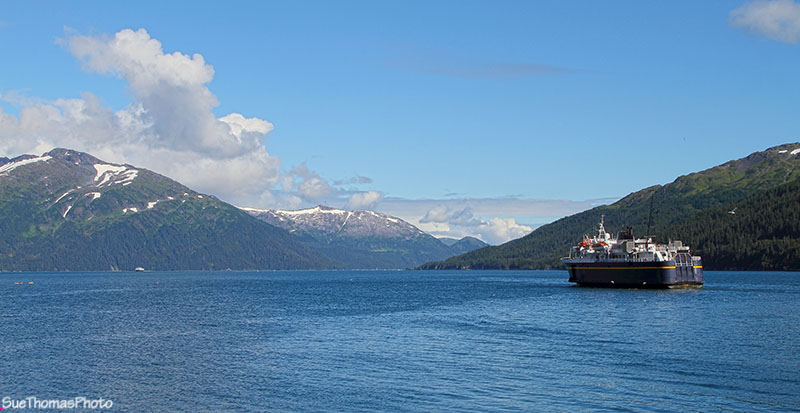 Whitter harbour with Alaska Ferry departing