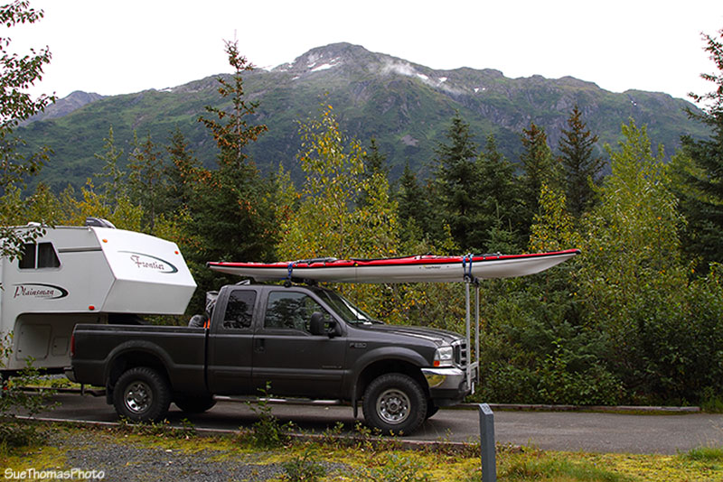 Campsite at Williwaw Campground, Alaska