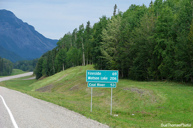 Watson Lake distance sign on the Alaska Highway