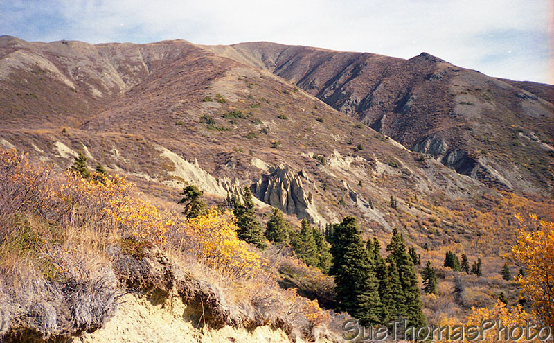 Hoodoos on Sheep Mountain, Kluane Lake, Alaska Highway, Yukon