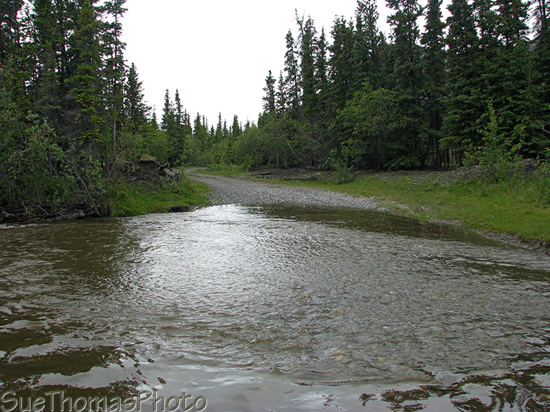 Creek crossing east side of Kluane Lake, Yukon
