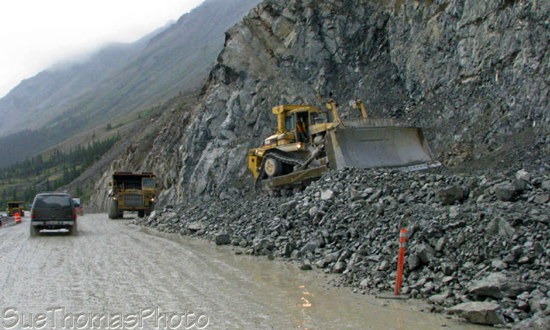 Construction along Kluane Lake, Yukon