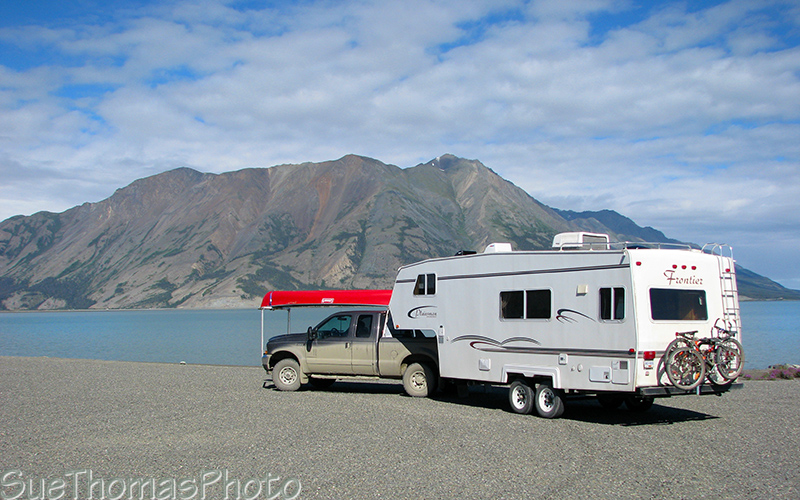 View from rest area near Kluane Lake, Yukon