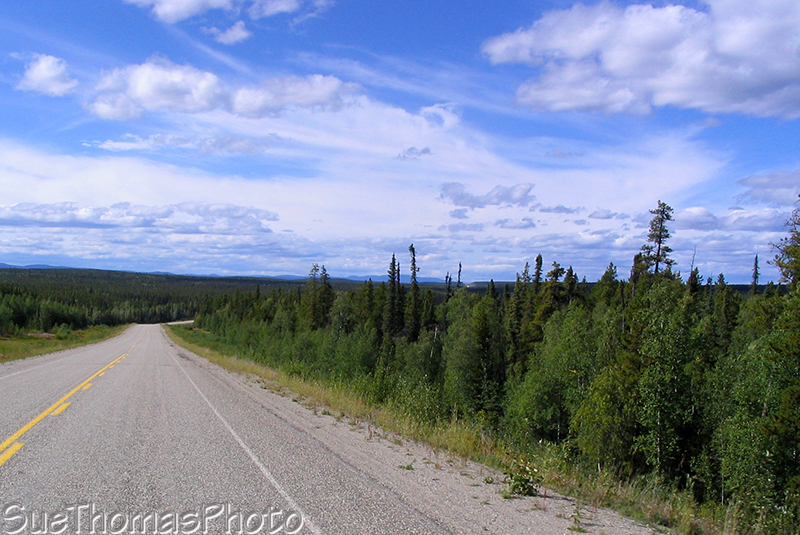 Northbound on the Alaska Highway north of Watson Lake