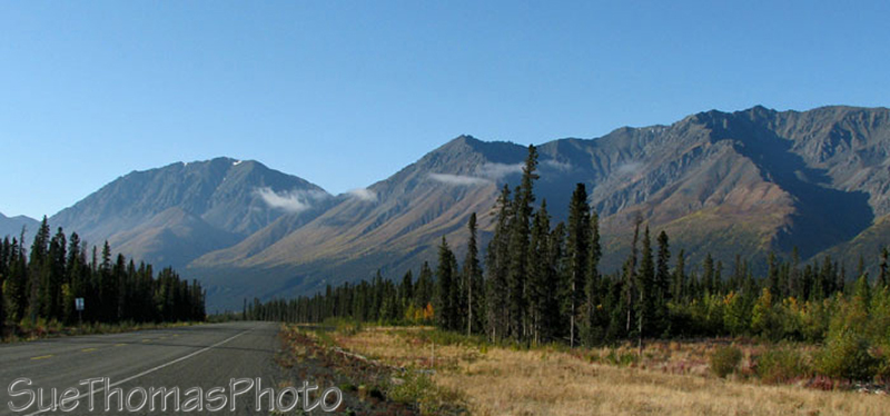 Alaska Highway near Kluane Lake, Yukon YT