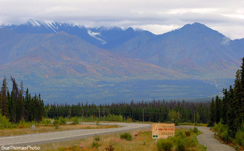 Pine Lake Yukon government campground near Haines Junction