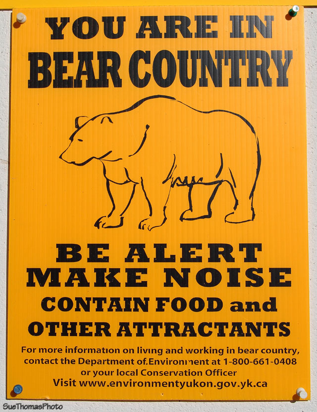 Sign in Yukon campground