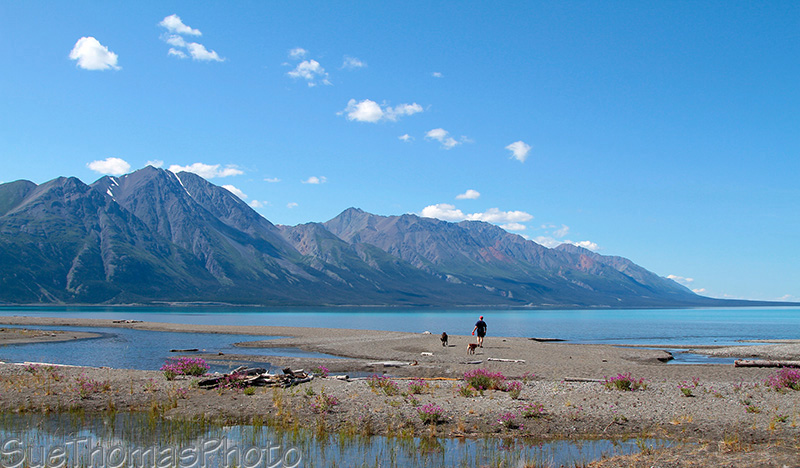 Kluane Lake and Kluane Ranges
