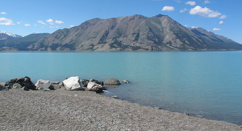 Sheep Mountain at Kluane Lake on the Alaska Highway