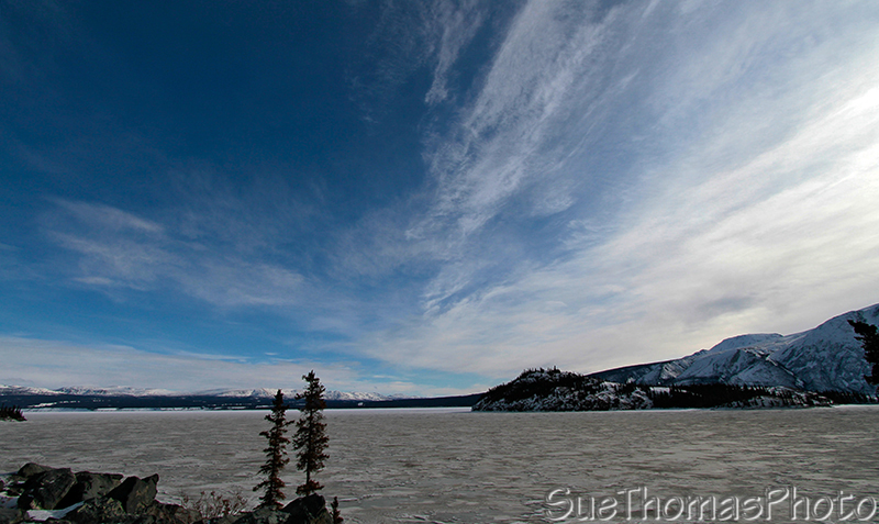 Kluane Lake in winter, Yukon