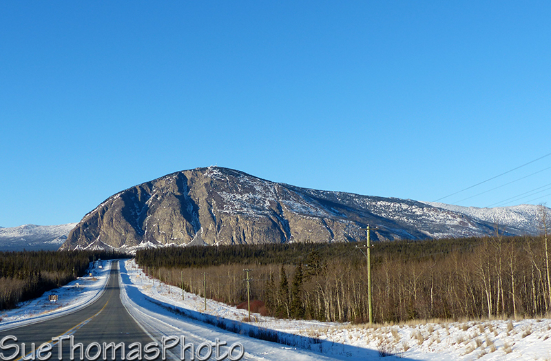Paint Mountain and Alaska Highway