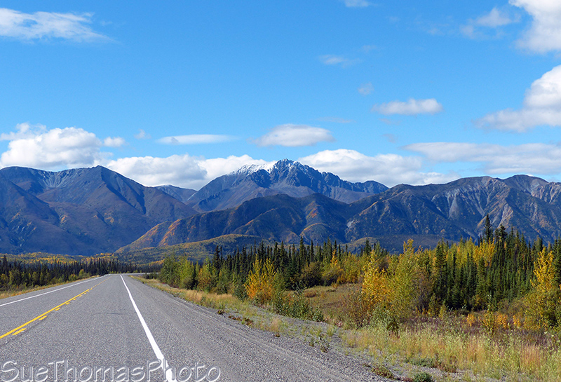 Alaska Highway northbound approaching White River