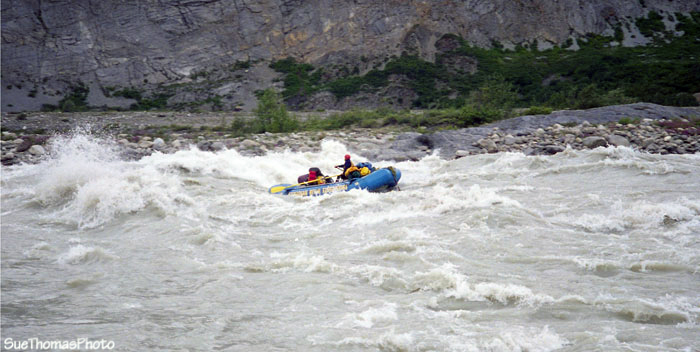 Class 3 rapids on the Alsek River