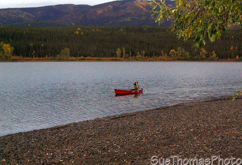 Canoeing on Frances Lake, Yukon
