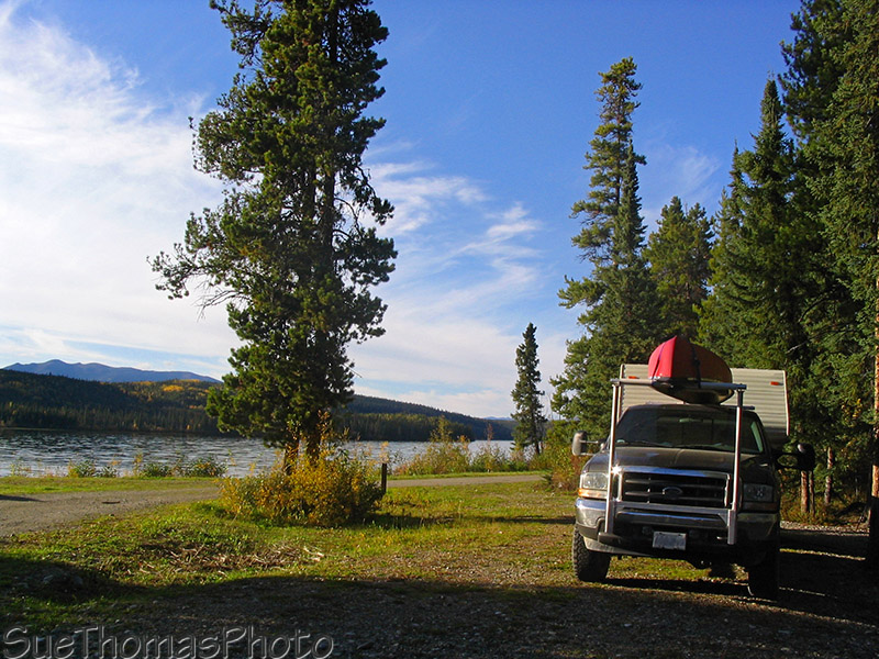 Simpson Lake Yukon Gov't campground