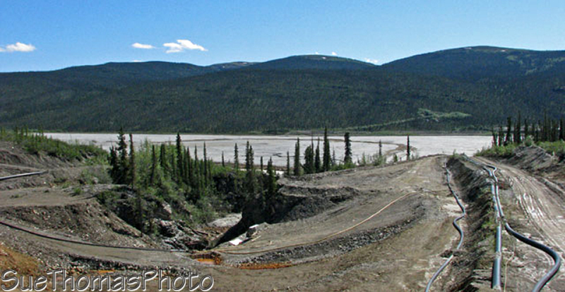Sludge at the Anvil mine near Faro, Yukon