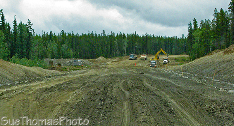 Campbell Highway under construction, July 2008