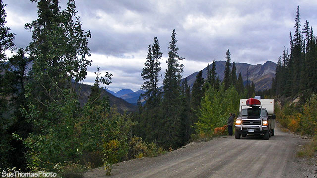 South Canol Road, Yukon overlooking Lapie River