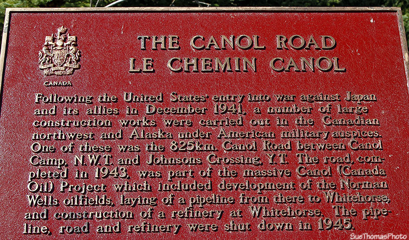 Information Sign at the South Canol near the Alaska Highway