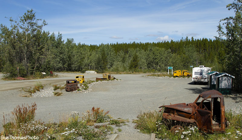 The rest area on the South Canol near the Alaska Highway