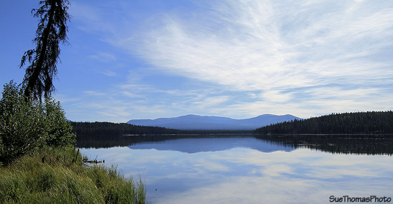 Sidney Lake on South Canol Road in Yukon