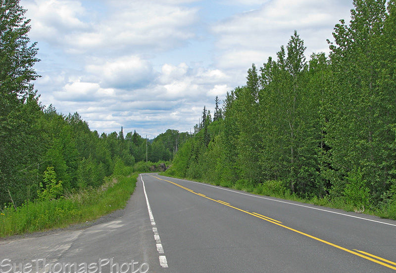 Northbound on the south end of the Cassiar Highway, BC