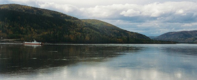 Dawson City ferry crossing, Yukon