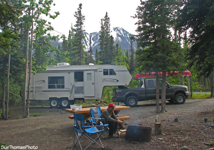 Camping at Kathleen Lake, Kluane National Park, Yukon