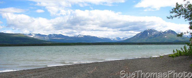 Dezadeash Lake, Yukon on Haines Road