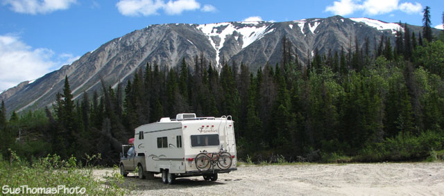 Boondocking near Million Dollar Falls, Yukon on the Haines Road
