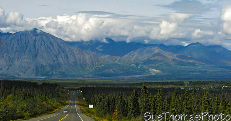 Looking north towards Haines Junction, Yukon