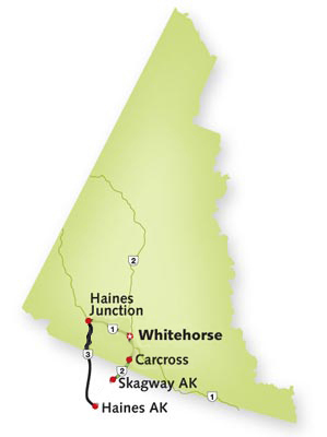 Haines Road map