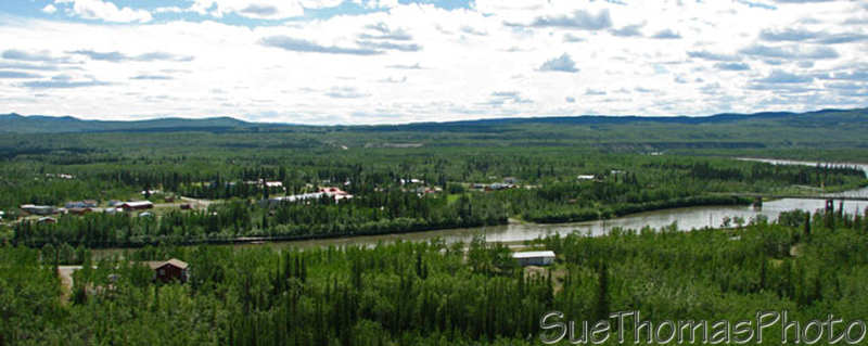 Pelly Crossing and Pelly River, Yukon on the Klondike Highway