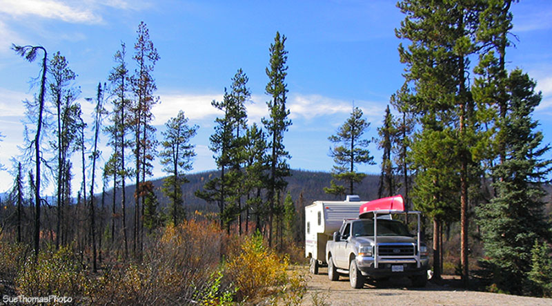 Nahanni Range Road campground, Yukon