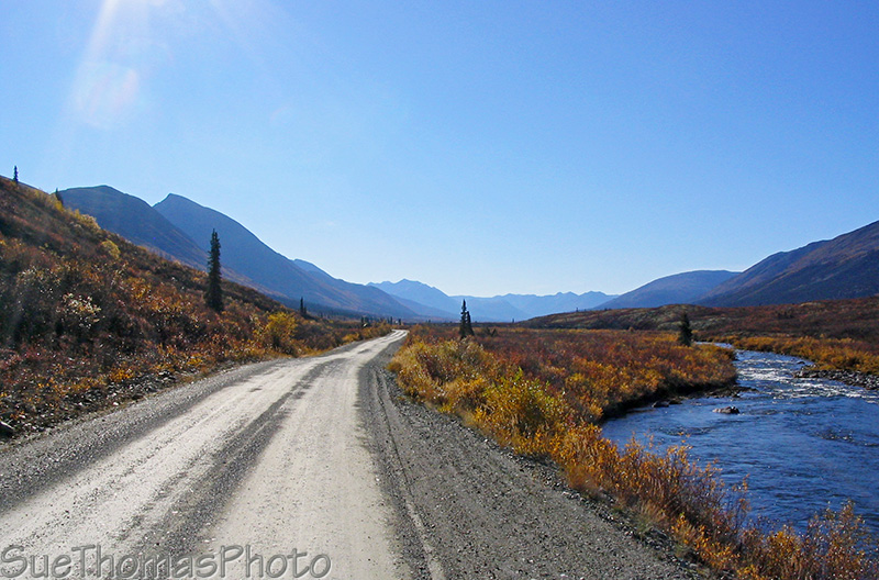 Little Hyland River and Nahanni Range Road in Yukon