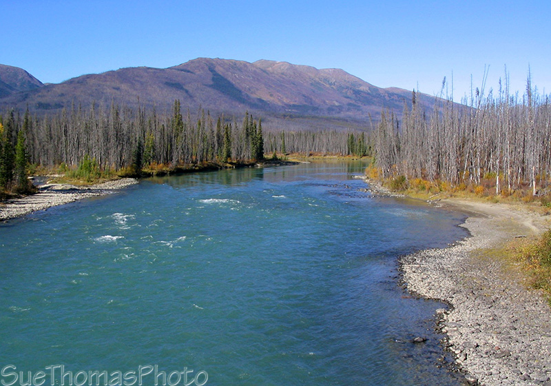Hyland River and Nahanni Range Road in Yukon