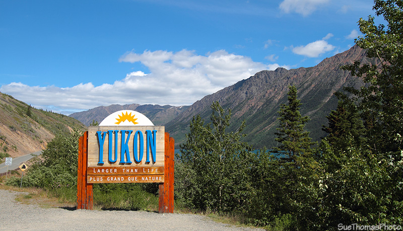 Welcome to Yukon sign, South Klondike Hwy