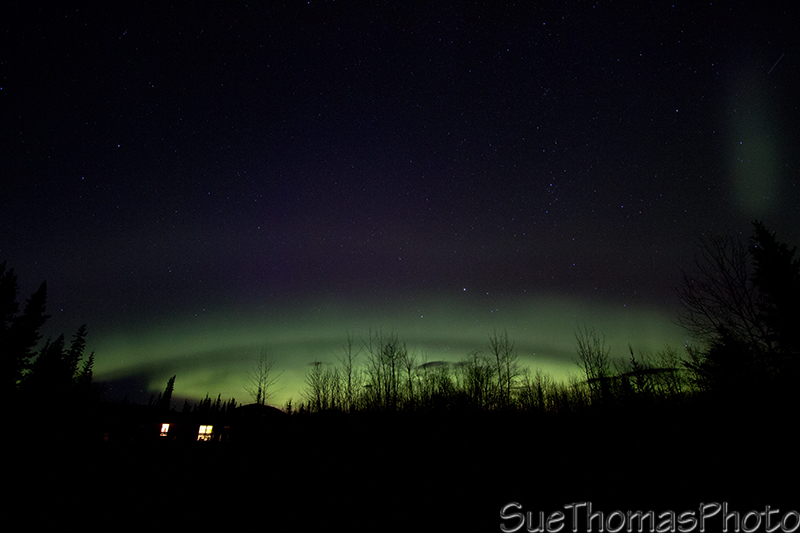 Aurora over the cabin